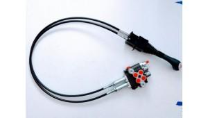 Гидрораспределитель 2Р80-1А1А1 GKZ1 на тросовом управлении и джойстиком с кнопками под электроуправление
