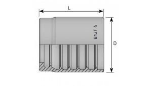 Муфта обжимная 1SN/2SN/2SC DN=10
