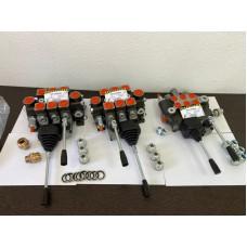 Комплект гидрораспределителей на экскаватор 3+3 с джойстиками
